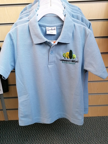 Hillfort Pale Blue P.E Polo With Logo