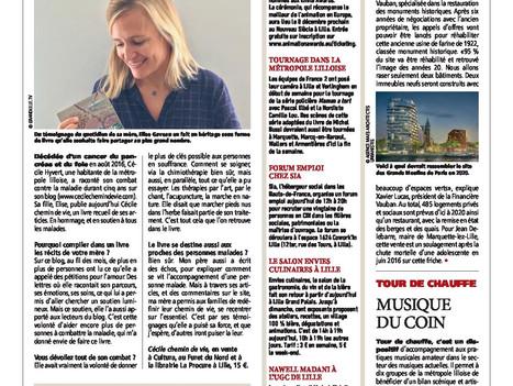 "CNews Matin Grand Lille ""Une mère face au cancer"""