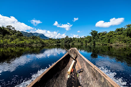 Sailing down river amidst the Amazon Jungle.jpg