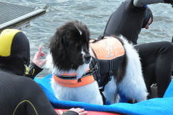 Debby im Boot