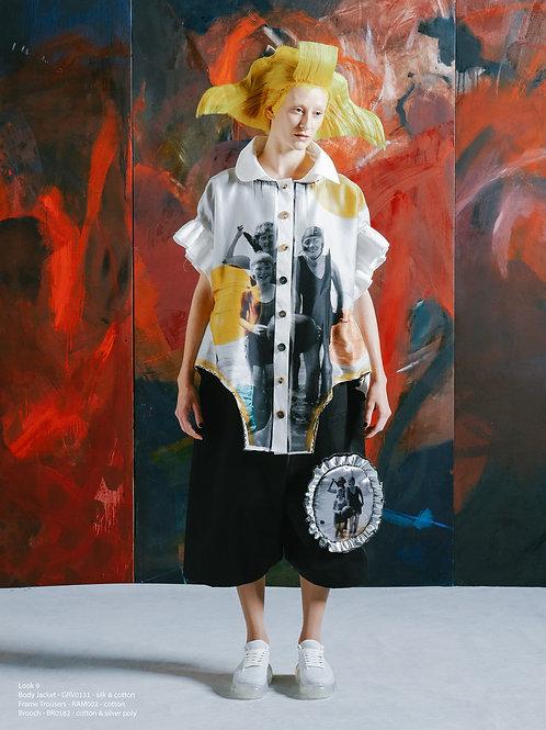 """""""PAPER"""" Sculptural shirt with asymmetric collar"""