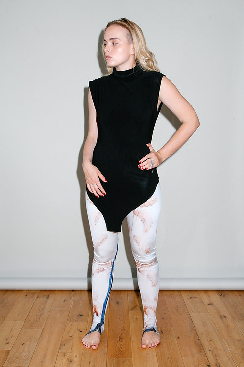 THERE WILL BE MAGGOTS graphic-print leggings