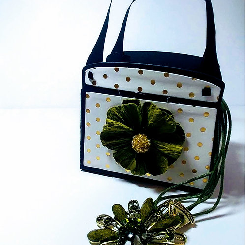 Gift Paper Purse (Gold and White)