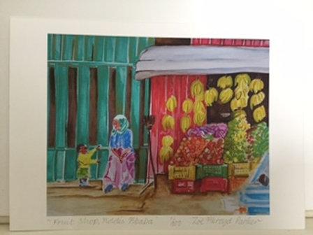 Fruit Shop, Addis Ababa - A4 Giclee Print