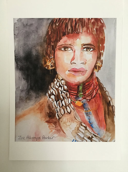 """Hamer Woman""- Giclee Print"