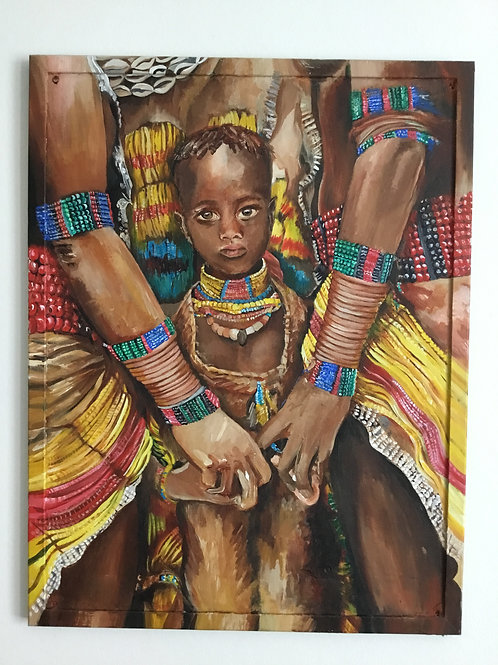 Young Girl from the Hamer Tribe- giclee print