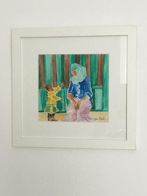 """Look, Mum!""- original watercolour painting"