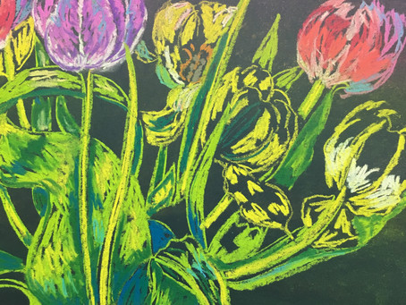 Stress-Relieving Fun With Chalk and Charcoal!