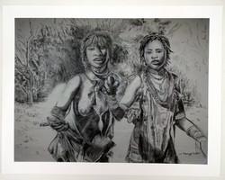 Two Hamer Women on the Road to Turmi