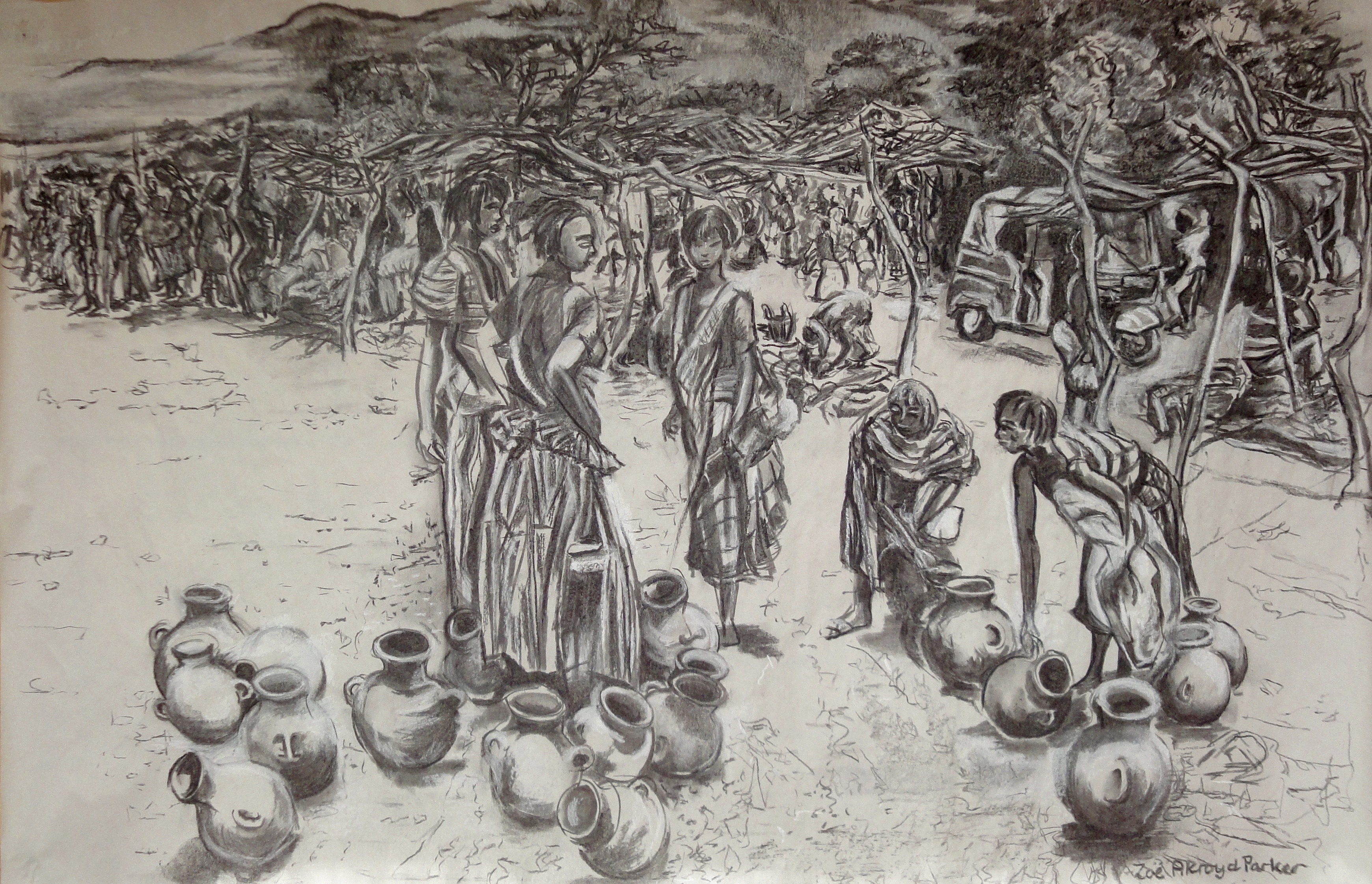 Dimeka Market (Bartering Over Pots)