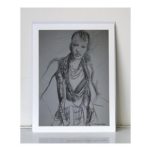 """Hamer Woman- Attitude""- giclee print"