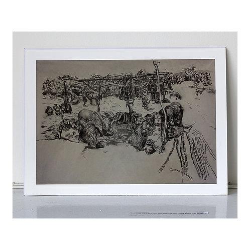 """Dimeka Market""- A4 giclee print"