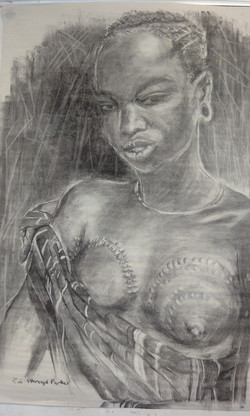 Young Mursi Tribeswoman