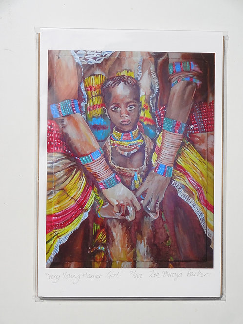 Very Young Hamer Girl- A4 Giclee Print