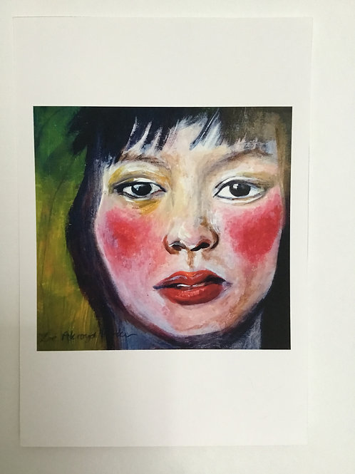 """Oriental Girl- close up""- Giclee Print"