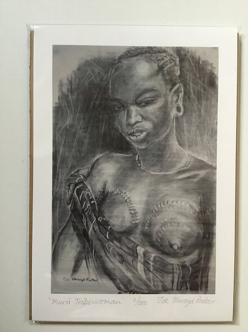 Mursi Tribeswoman- Giclee Print