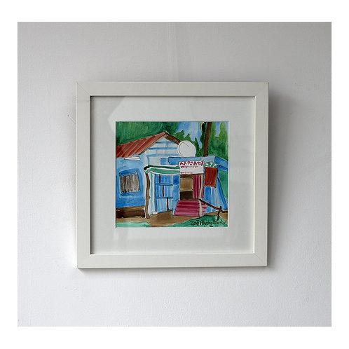 """Satellite Shack""- original watercolour painting"