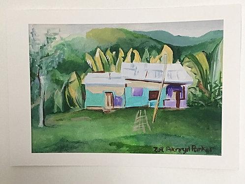 """Little House, Big Banana Leaves""- Giclee Print"