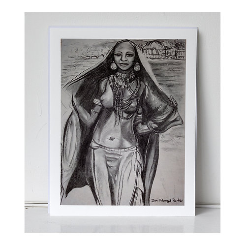 """Young Woman from the ArboreTribe""- giclee print"