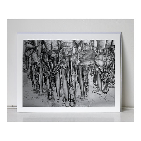"""All the Bottoms""- giclee print"