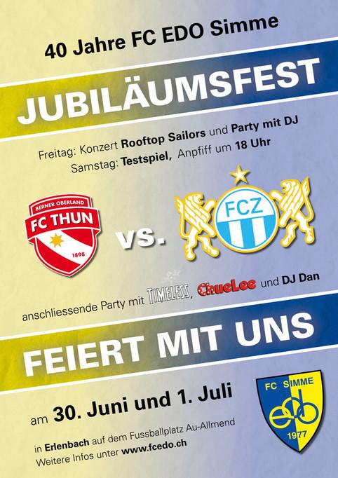 TIMELESS Live am Jubiläumsfest (Samstag 01.07.17) des FC EDO Simme in Erlenbach