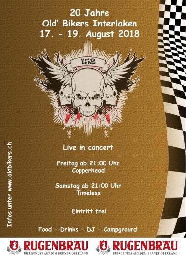 """TIMELESS rockt am 20 Jahre Jubiläum des """"MC Old Bikers"""" in Interlaken"""