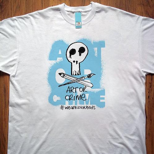 Art or Crime Blue Spray T-Shirt