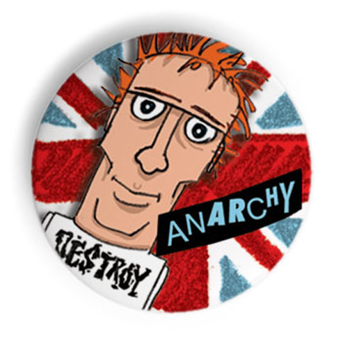 Rotten Anarchy Pin Badge