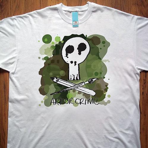 Art or Crime Green Splats T-Shirt