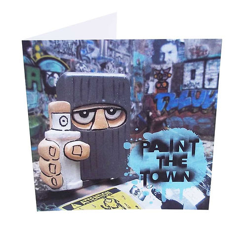7. Graffiti Hed Greeting Card