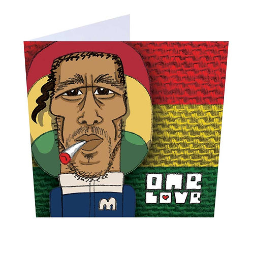 2. One Love Greeting Card