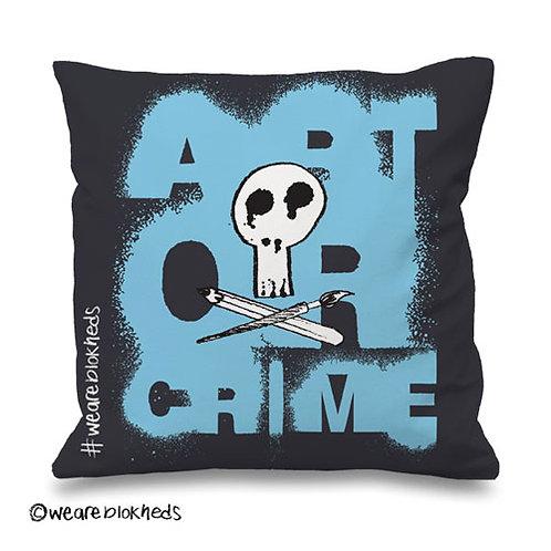 Art or Crime Spray Cushion