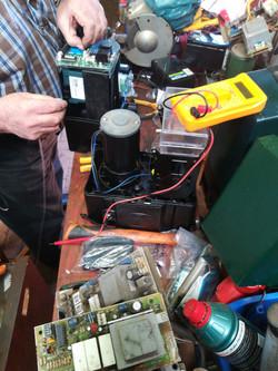 Testing a newly refurbisbished motor