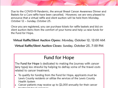 Virtual Baskets for a Cure Raffle & Silent Auction