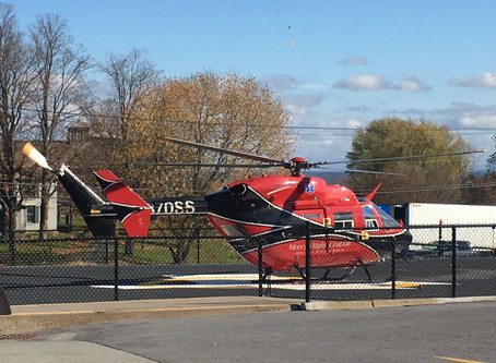 Designated Helicopter Landing Zone at Lewis County General Hospital