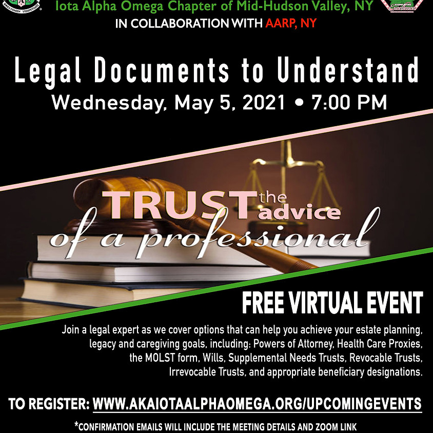Legal Documents to Understand Event