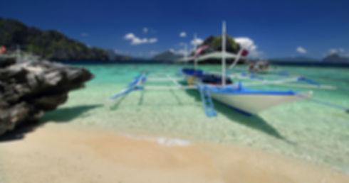 An island in El Nido