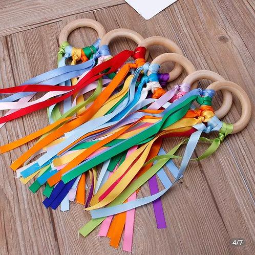Rainbow ribbon ring