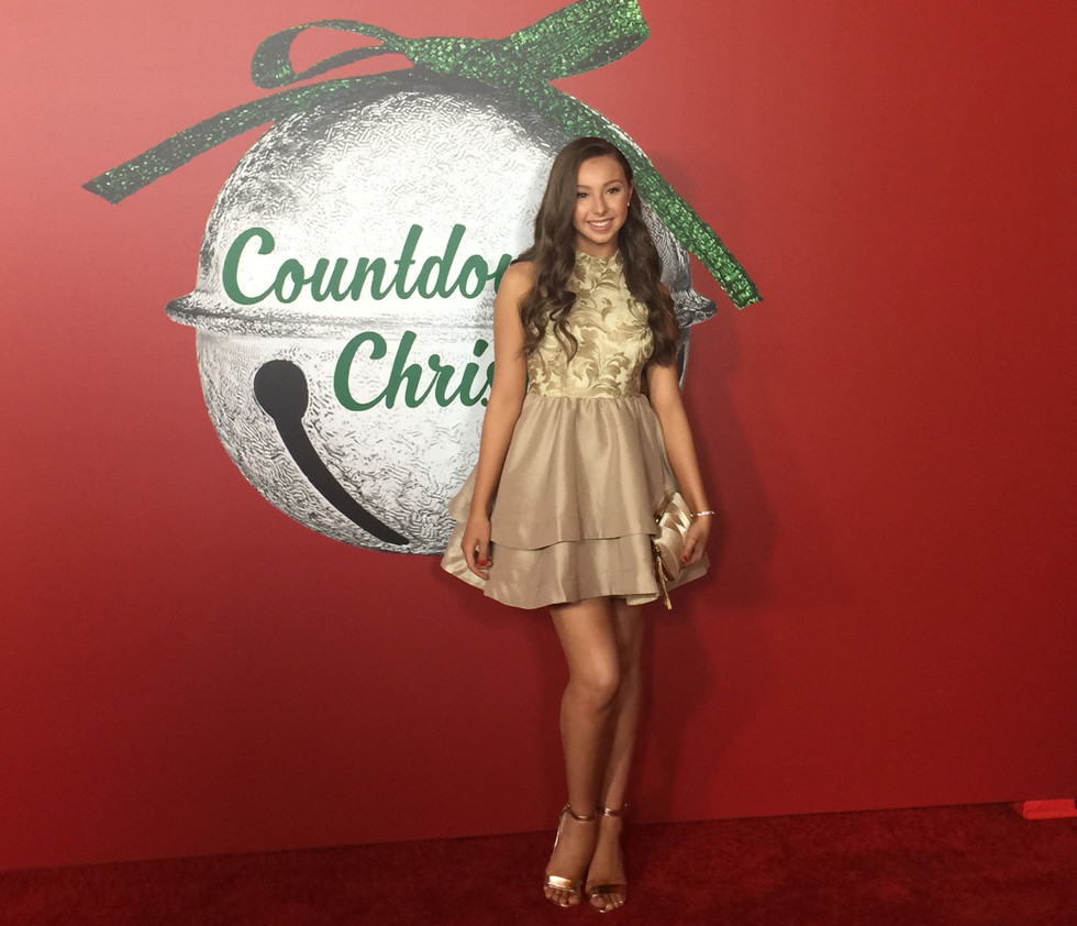 "Sophia at the premiere of ""A Nutcracker Christmas"""