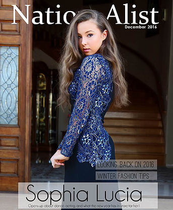 Sophia Covers Nation-Alist Magazine