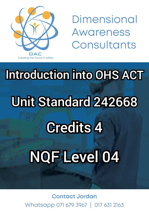 Introduction to The Health and Safety Act (OHS Act)