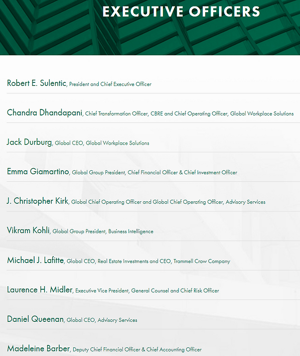 CBRE Executive Officers.PNG
