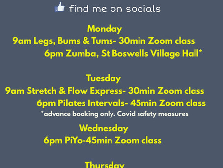 2 Zumba's and a Summer Schedule