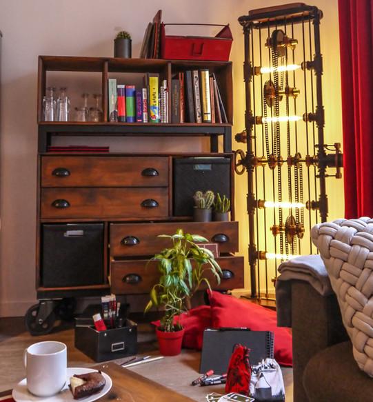 Lampe Fact-Ladder dans votre salon