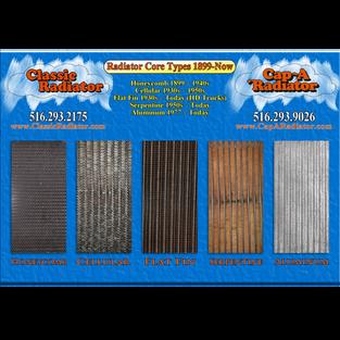 Blog Post: https://www.classicradiator.com/post/radiator-construction-part-i-core-styles