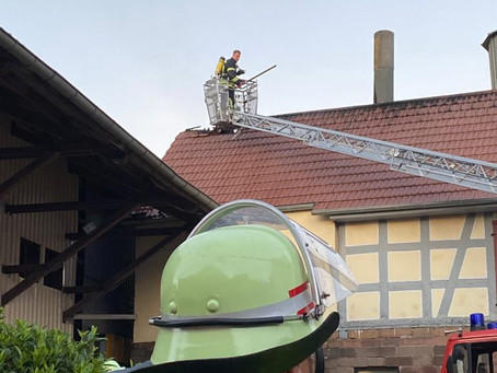 Einsatz F2 - Scheunenbrand Haarhausen