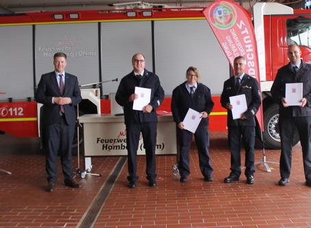 """Brandschutzteam Vogelsberg West"" ist Hessens Feuerwehr des Monats Juni 2020"