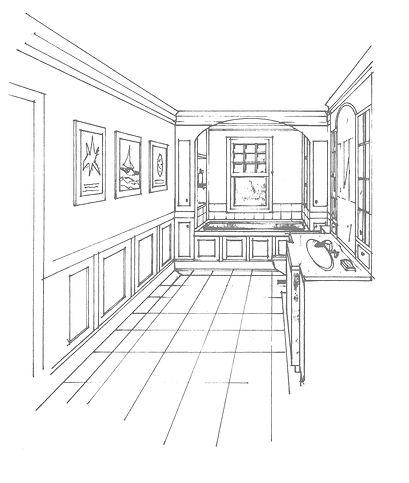 Hand-drawn proposal for bathroom refit