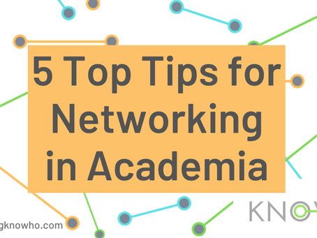 5 Top Tips for Networking in Academia