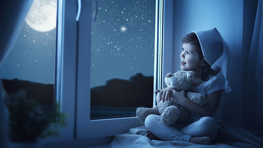 Cute-little-girl-look-out-window-child-m